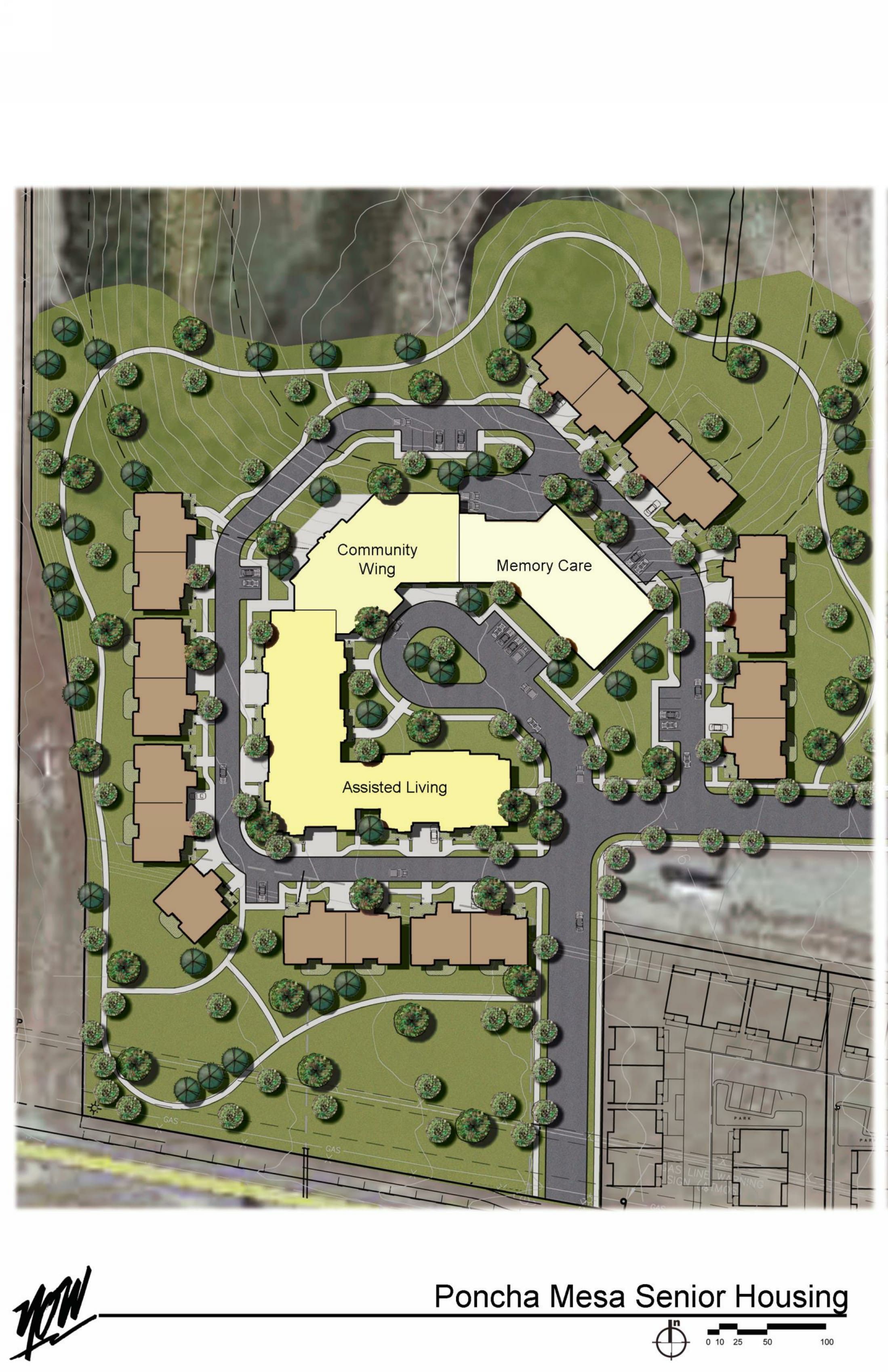 site plan for retirement home