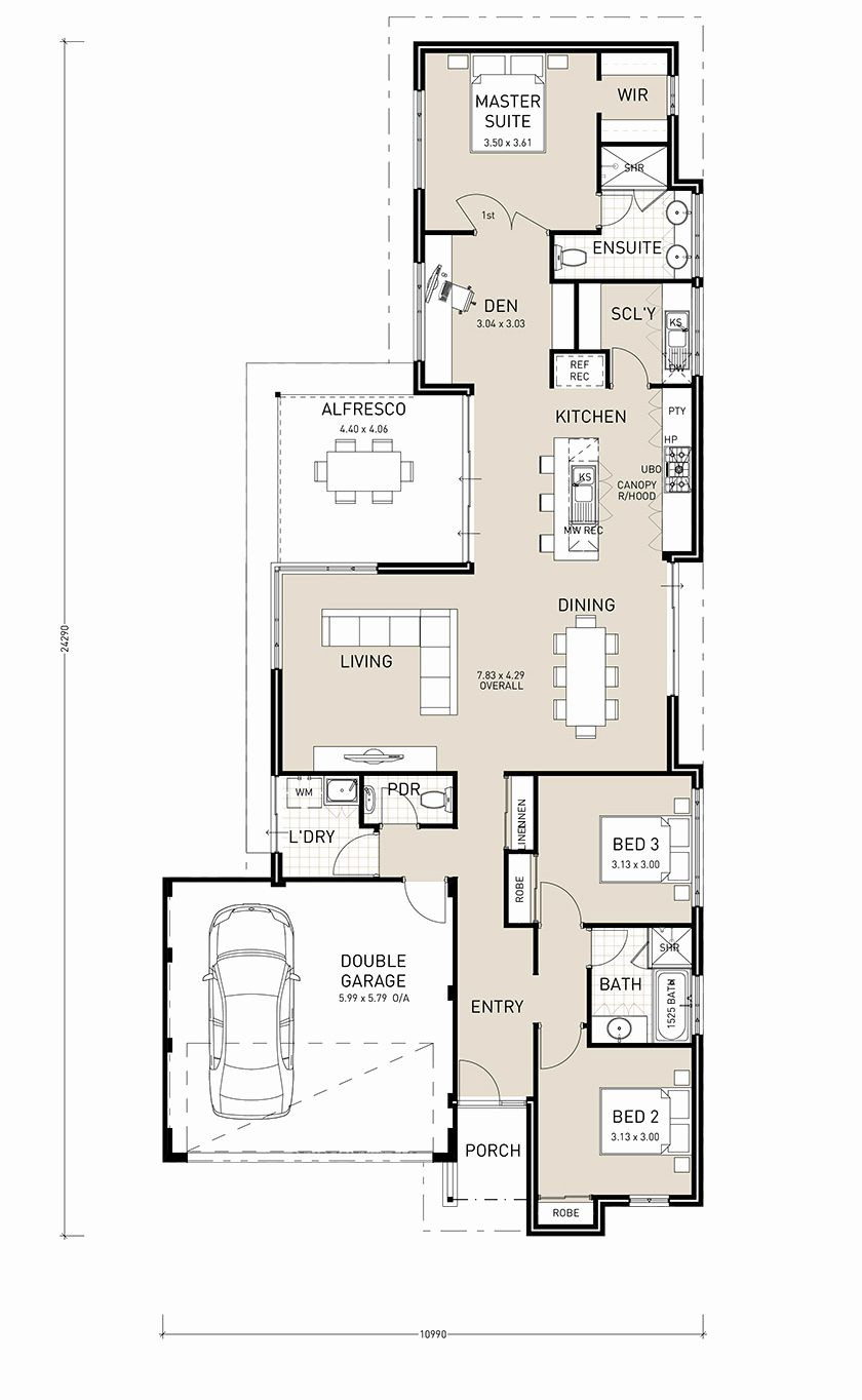 House Plans Single Level New 2 Story House Plans Narrow Block New House Plan Single Story