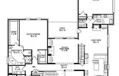 House Plans Single Level New Two Story 5 Bedroom 4 5 Bath Traditional Style