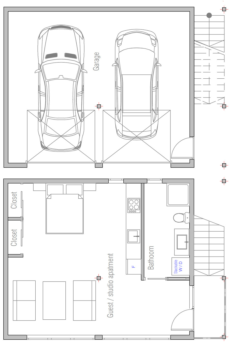 cost to build less than 100 000 garage plan G813 floor plan