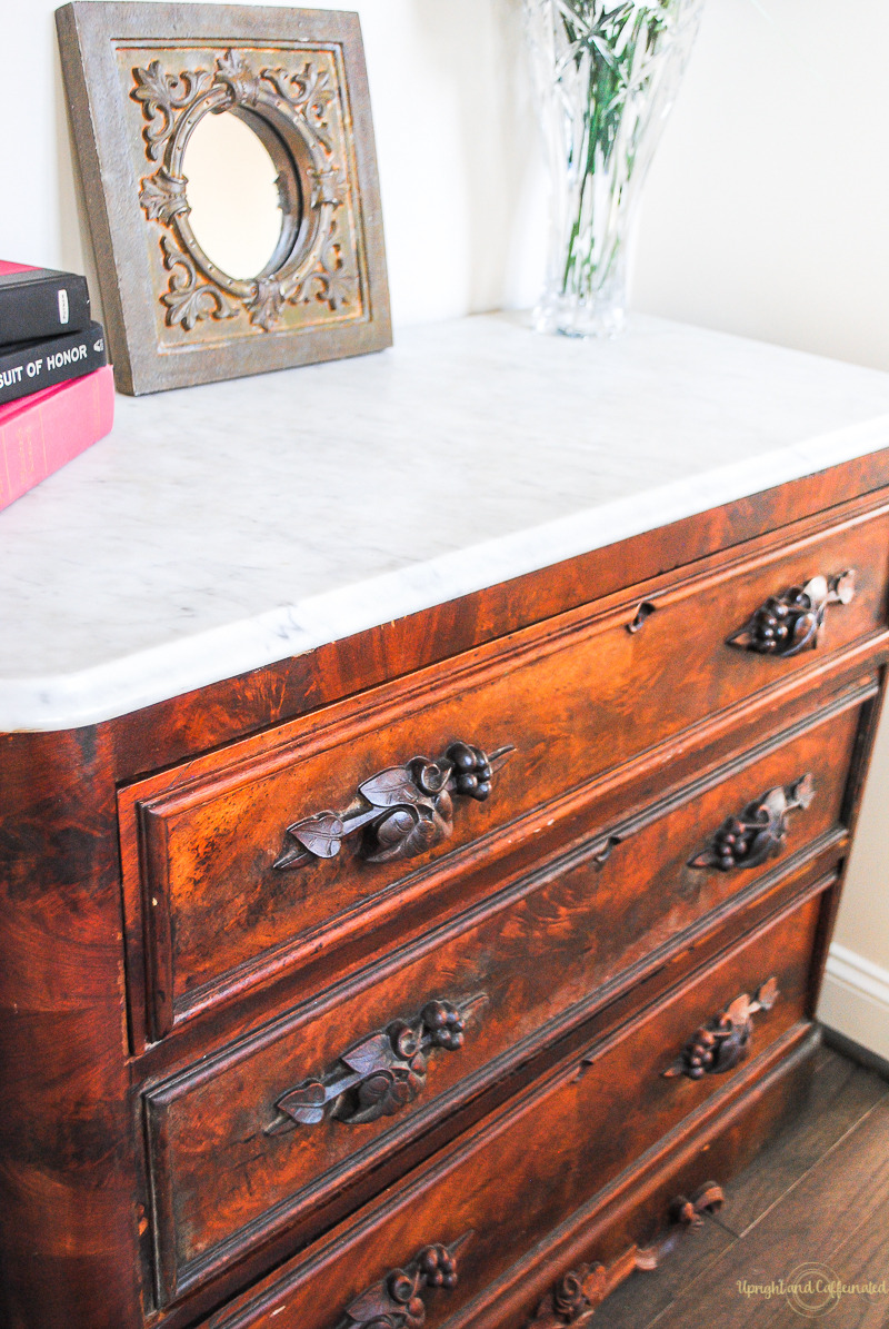 Marble Top Dresser Upright and Caffeinated 4