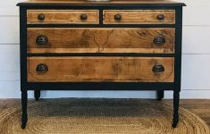 How To Make Furniture Look Antique New Two Toned Vintage Dresser Makeover