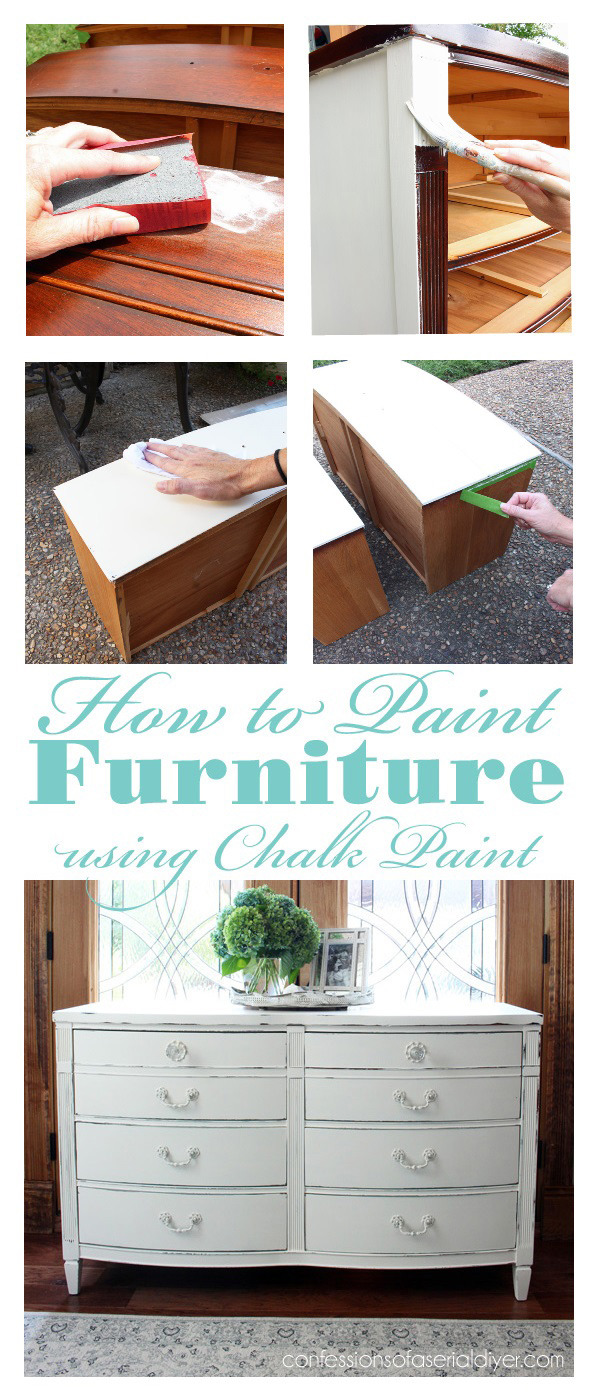 How to Paint Furniture using Chalk Paint Graphic