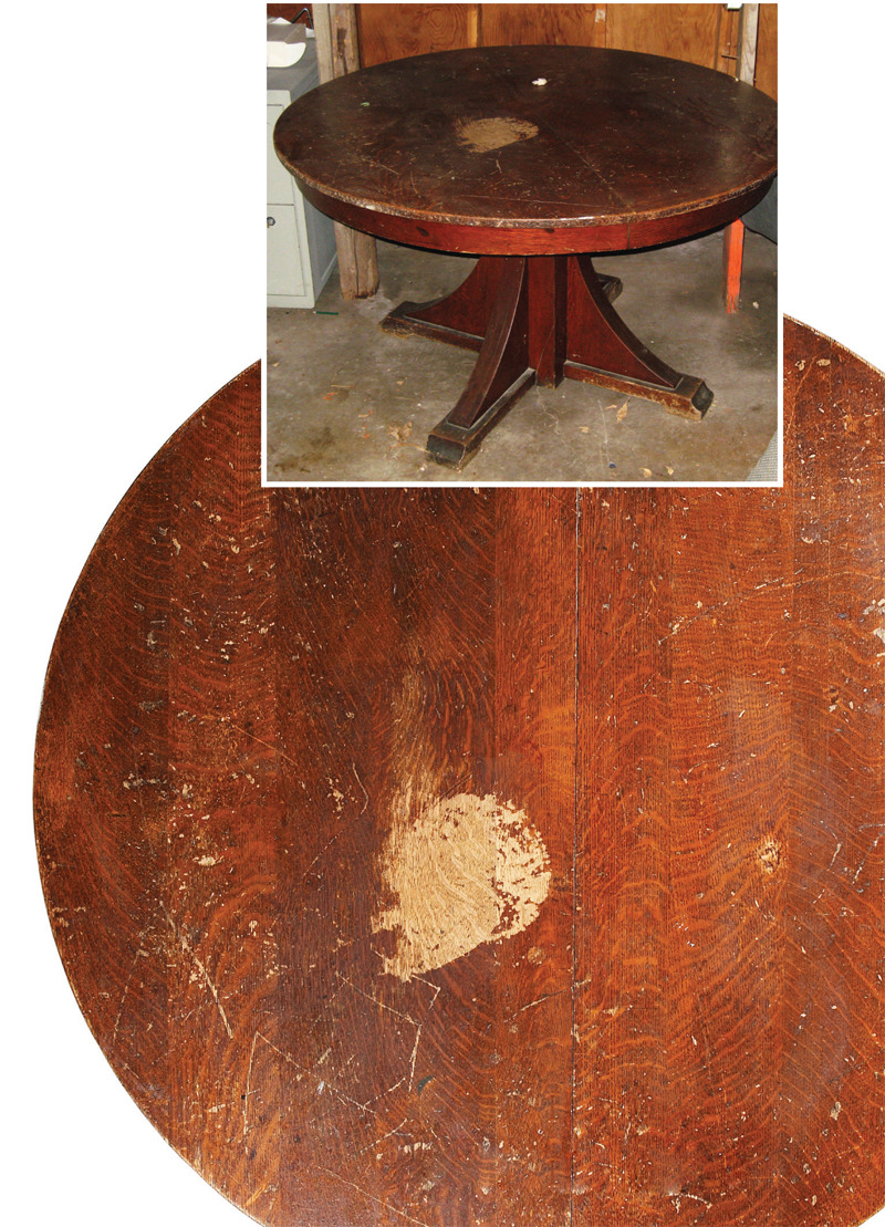 aw extra restore an antique oak table