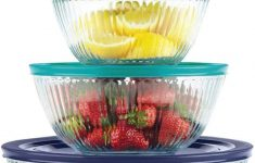 Large Clear Glass Mixing Bowl Fresh Pyrex 4 Piece 100 Years Glass Mixing Bowl Set Limited Edition Assorted Colors Lids