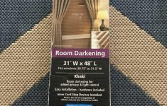 "Mainstays Room Darkening Mini Blinds Khaki Beautiful Mainstays 1 Inch Vinyl Mini Blind ""room Darkening"" 31"" W X 48"" L Nib"