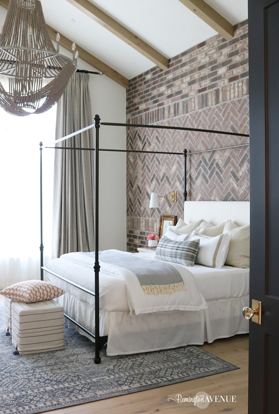 French Country Transitional Master Bedroom Tour 25