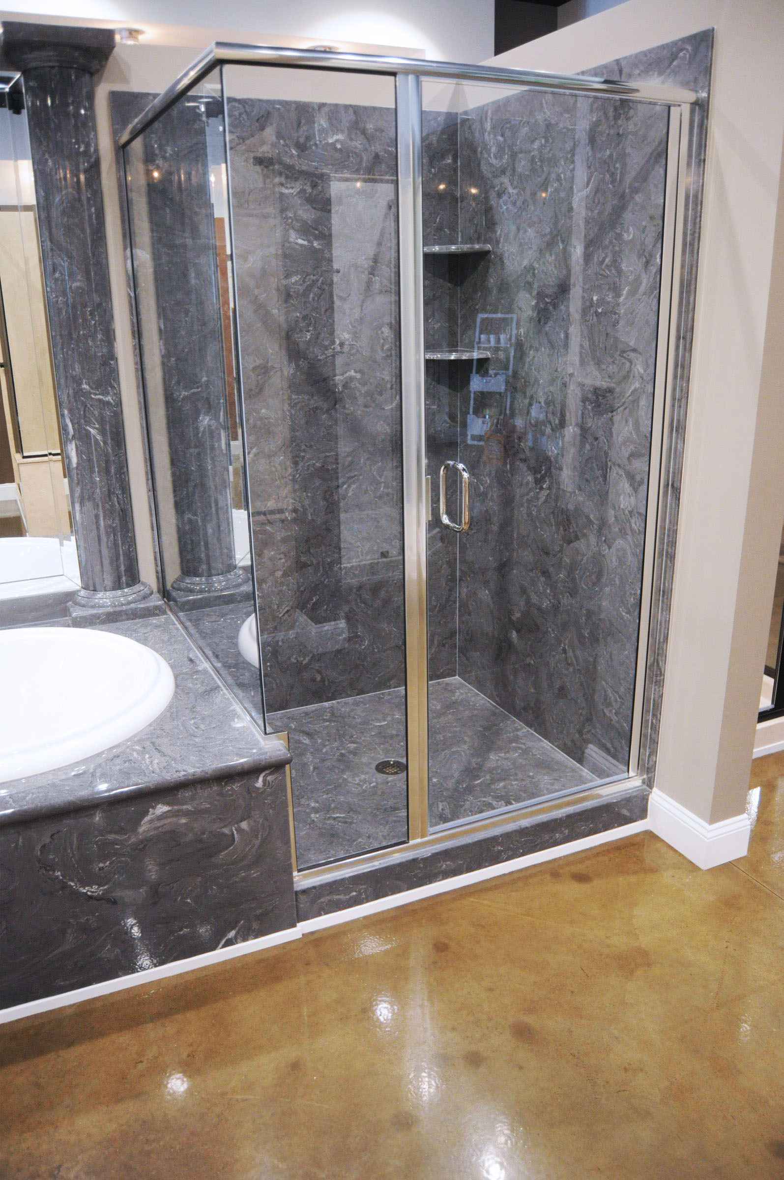 Waterproof Bathroom Wall Panels Bq Laminate Diy Shower Kits