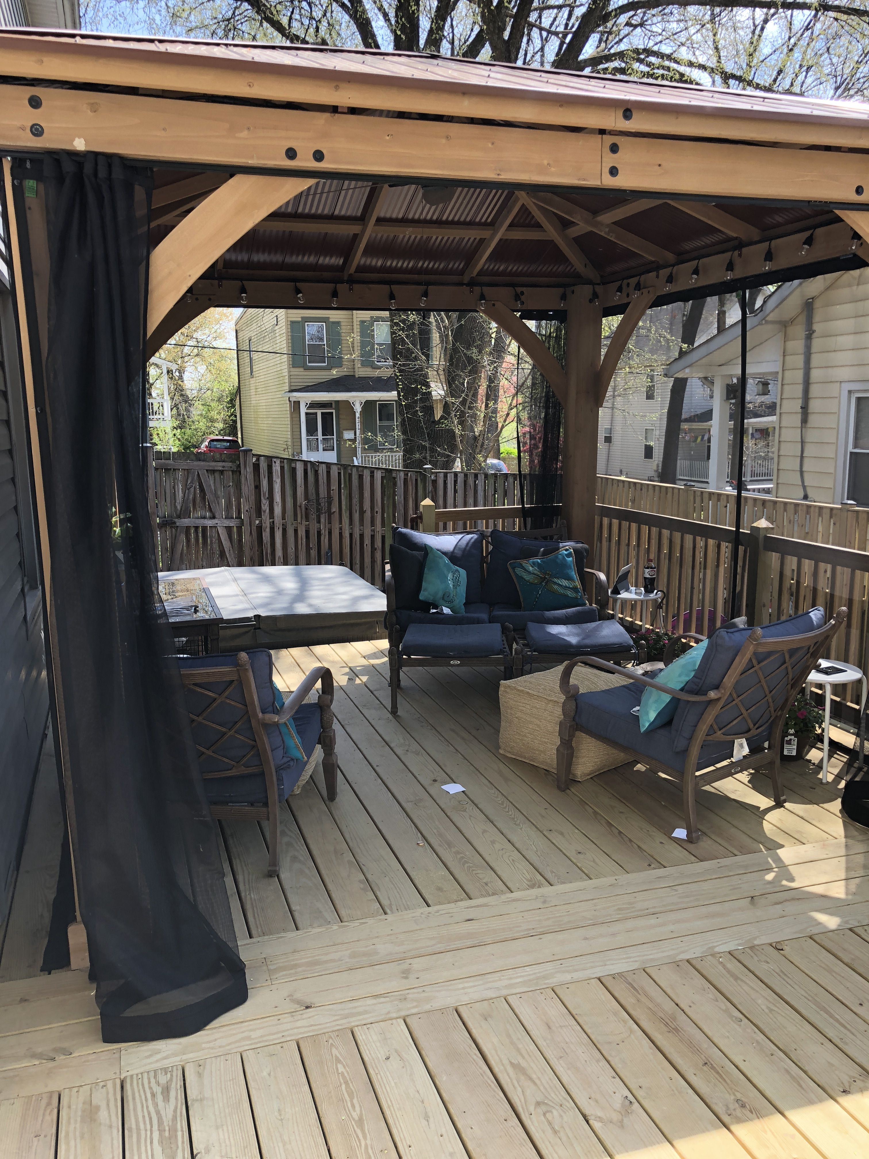 Metal Gazebo Kits Costco Awesome Costco Yardistry Gazebo On Our Deck with Mosquito Curtains