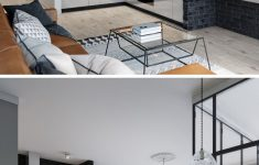 Modern Apartment Living Room Ideas Black Beautiful Black Framed Glass Walls Separate The Bedroom In This Kiev