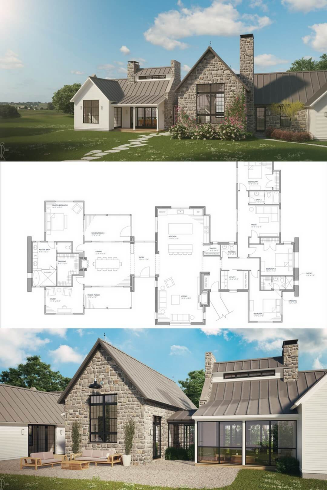 47 BEST Modern Farmhouse Floor Plans that Won People Choice 33
