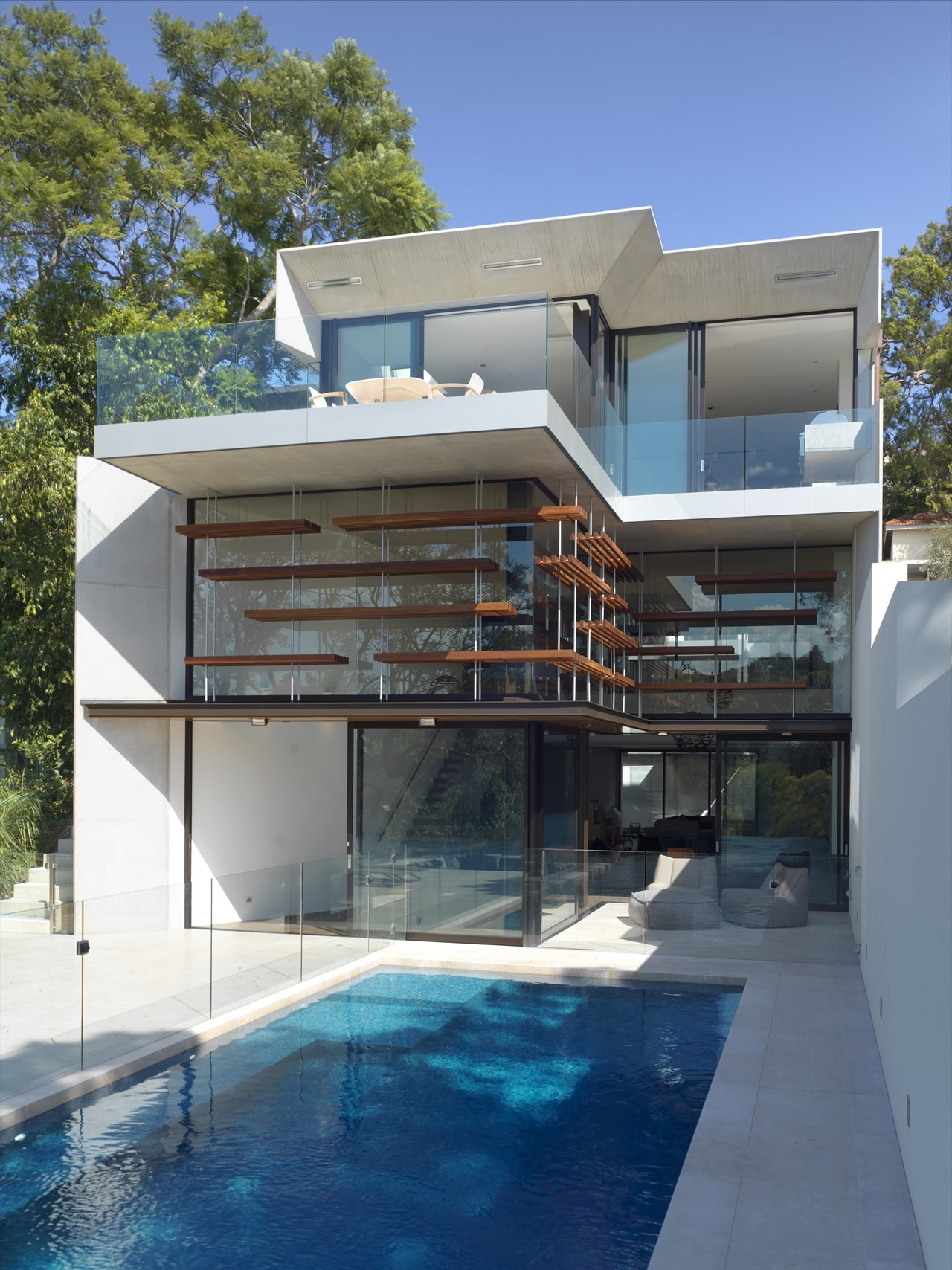 This sustainable house design on sloped land is lesson on modern living Architecture Beast 10