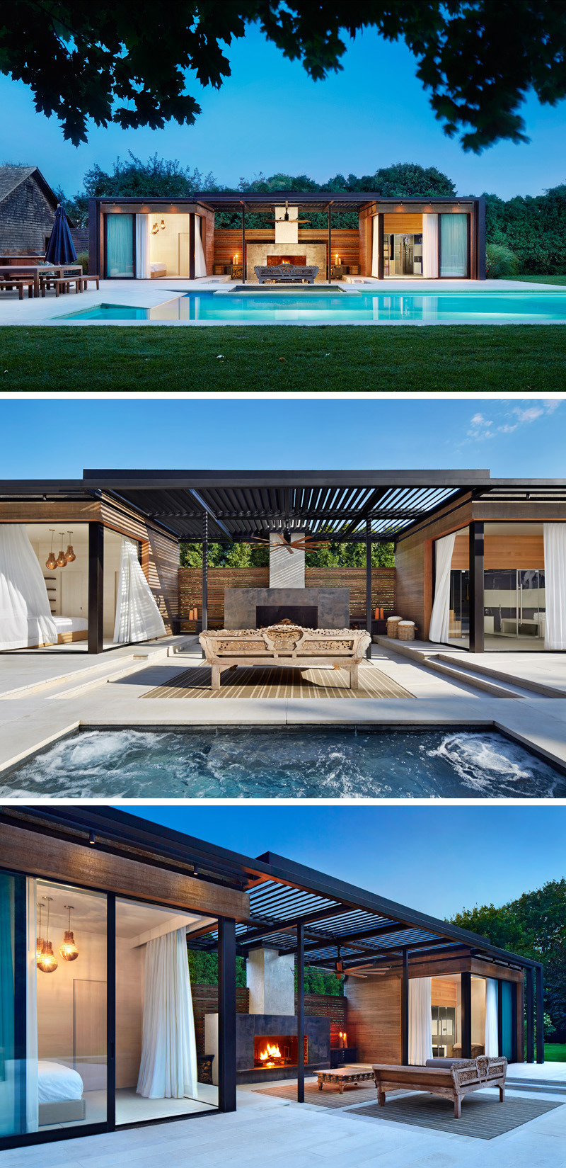 modern outdoor pool house architecture mezzanine 915 01a