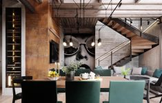 Modern Industrial Interior Design Elegant Warm Industrial Style House With Layout