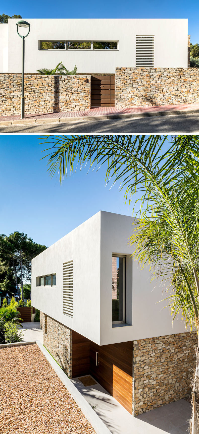 modern house white stone architecture 1203 02 800x1743