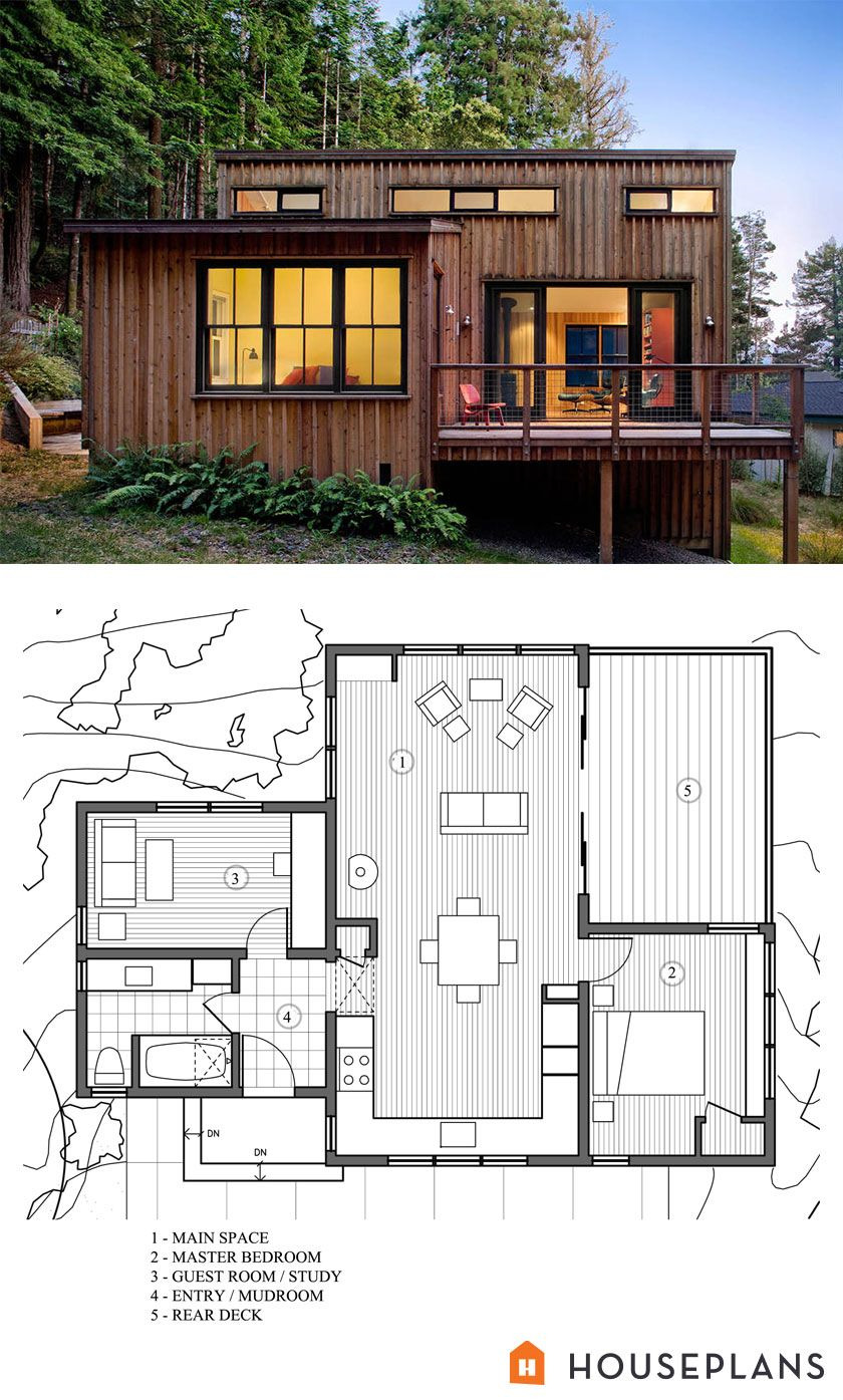 Modern Style House Plans Luxury Modern Style House Plans 2 Beds 1 Baths 840 Sq Ft Plan