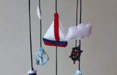 Nautical Baby Crib Mobile New Nautical Baby Mobile Sail Boat Anchor Ocean Whale Baby