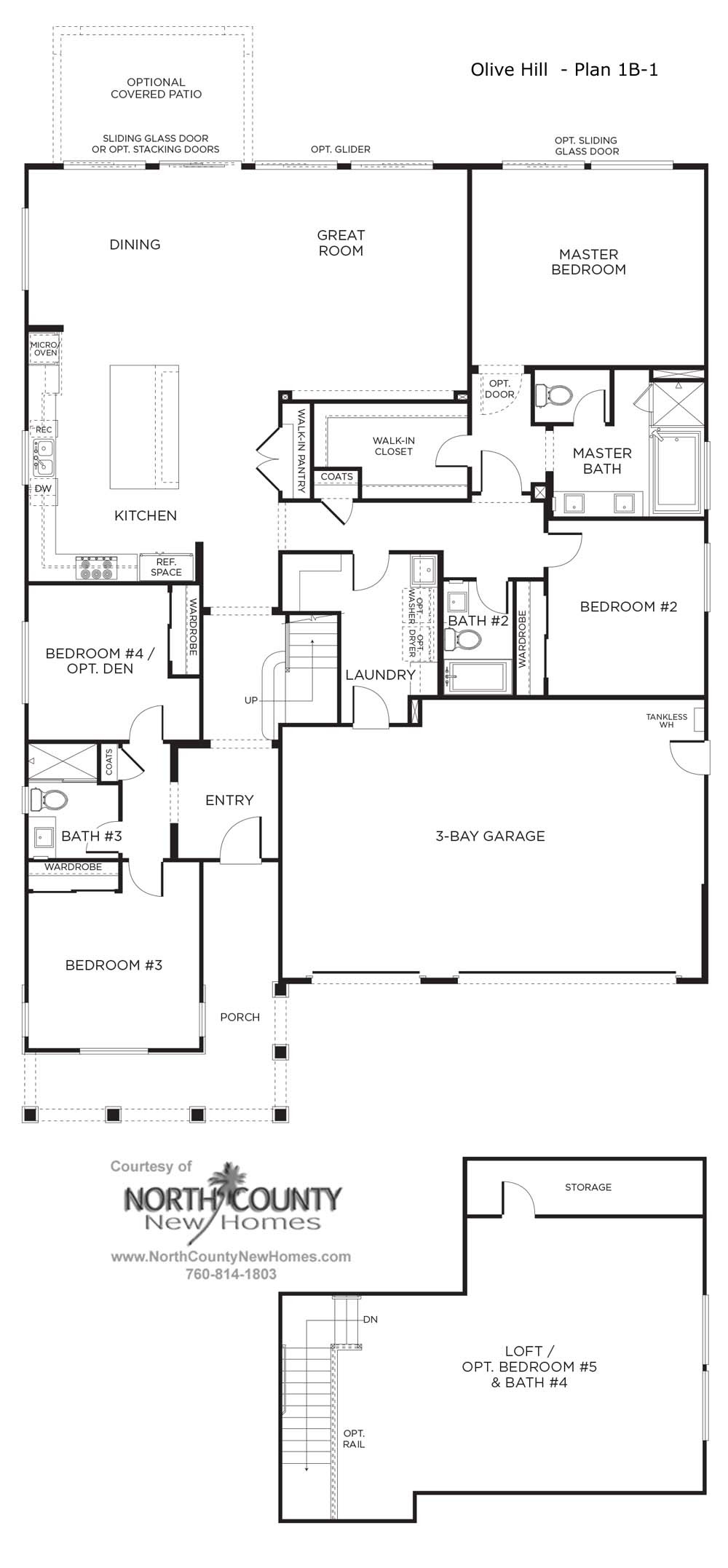 olive hill new homes in bonsall floor plan 1a
