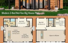 One Level Contemporary House Plans Unique Plan Ms Modern 2 Bed Not Too Big House Plan