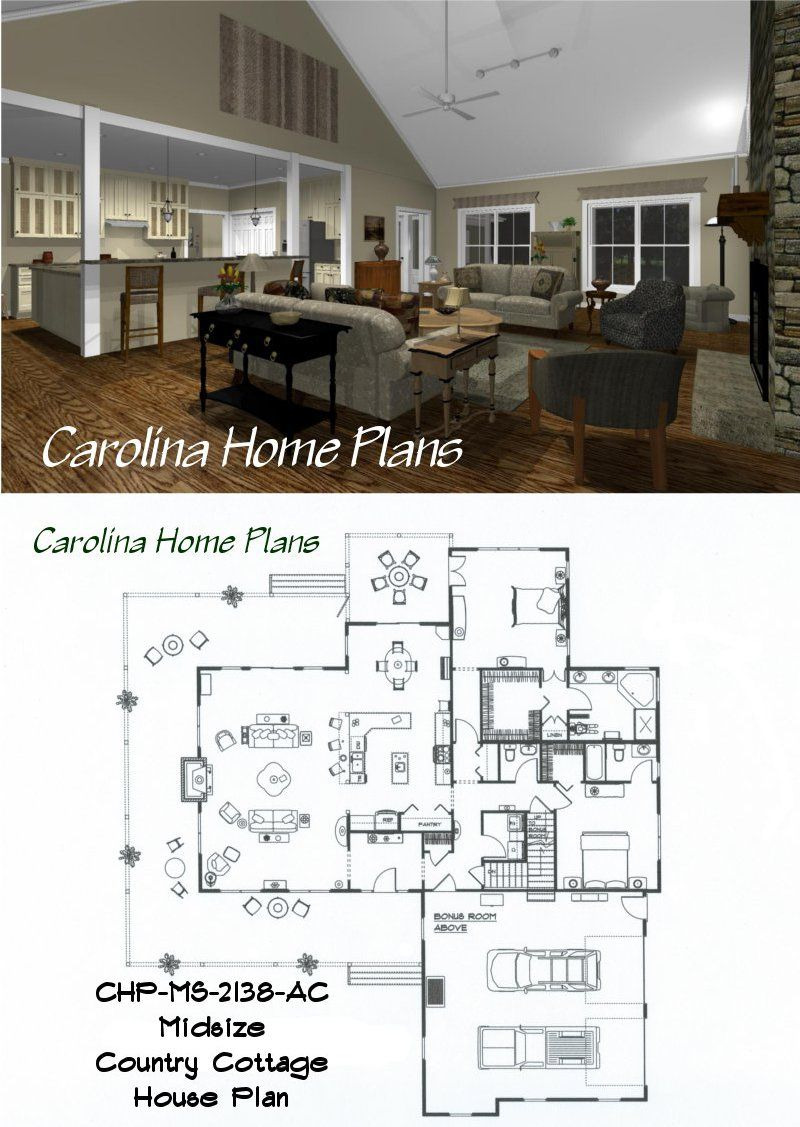 Open Floor Plans for Houses Lovely Midsize Country Cottage House Plan with Open Floor Plan