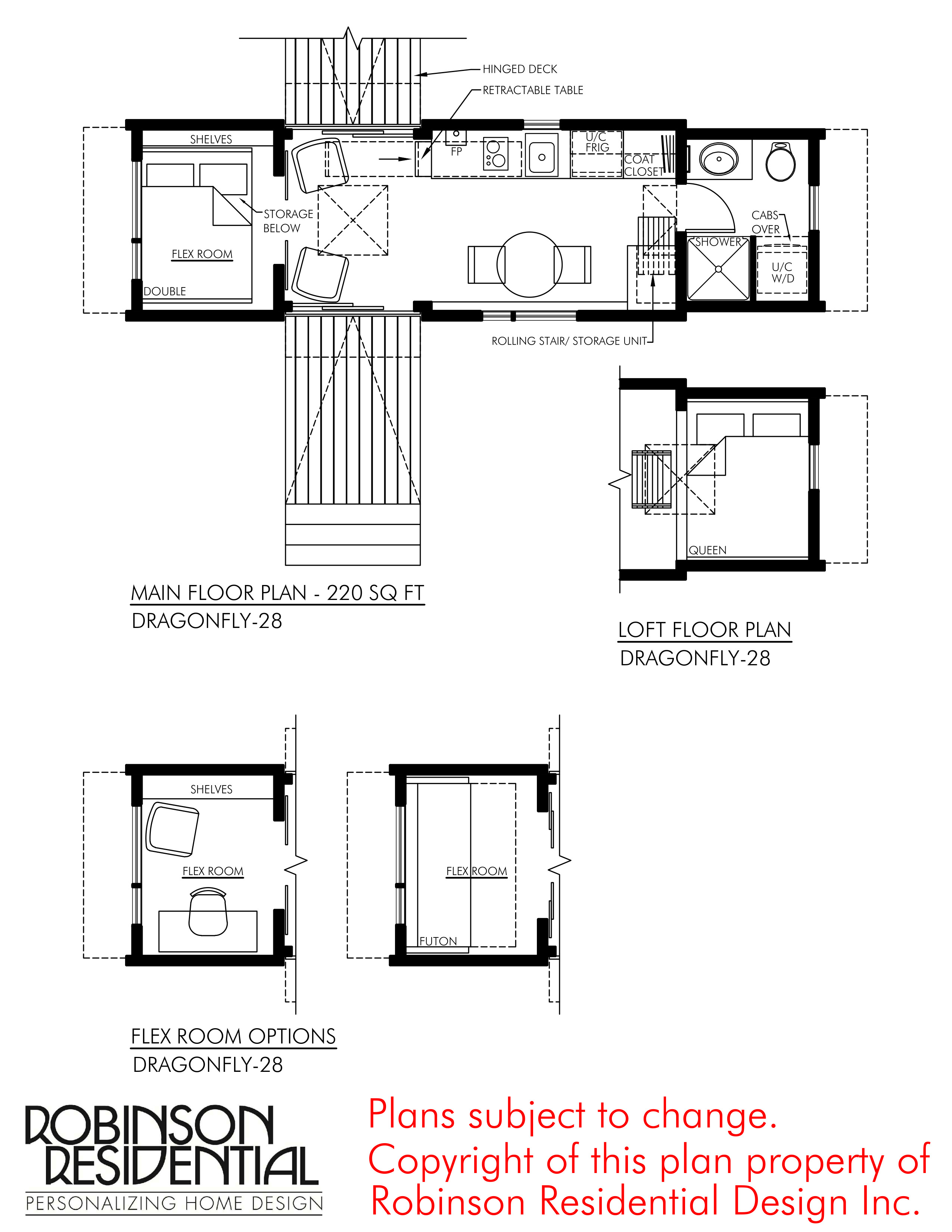 CONTEMPORARY TINY HOUSE PLANS DRAGONFLY 28 01 FLOOR PLAN