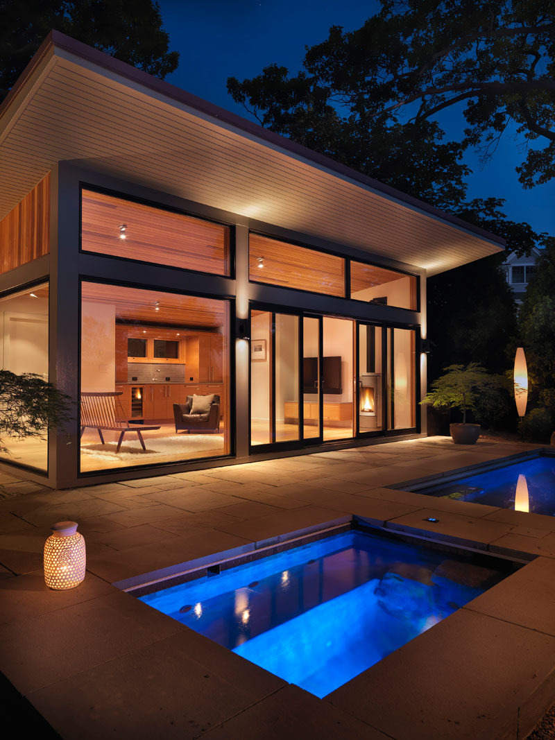 Pool House Guest House Plans Fresh Flavin Architects Design A Poolside Guest House Overlooking