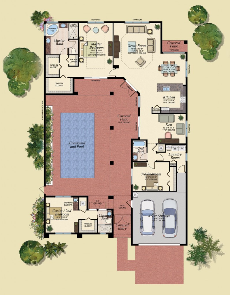 Pool House Guest House Plans Unique Lovely Mediterranean House Plans Guest Plan Pool Unique