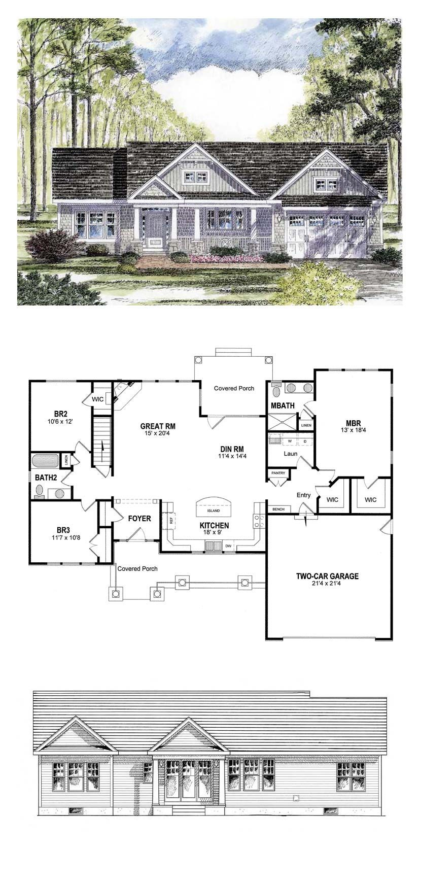 Ranch House Plans with Cost to Build Beautiful Traditional Style House Plan with 3 Bed 2 Bath 2