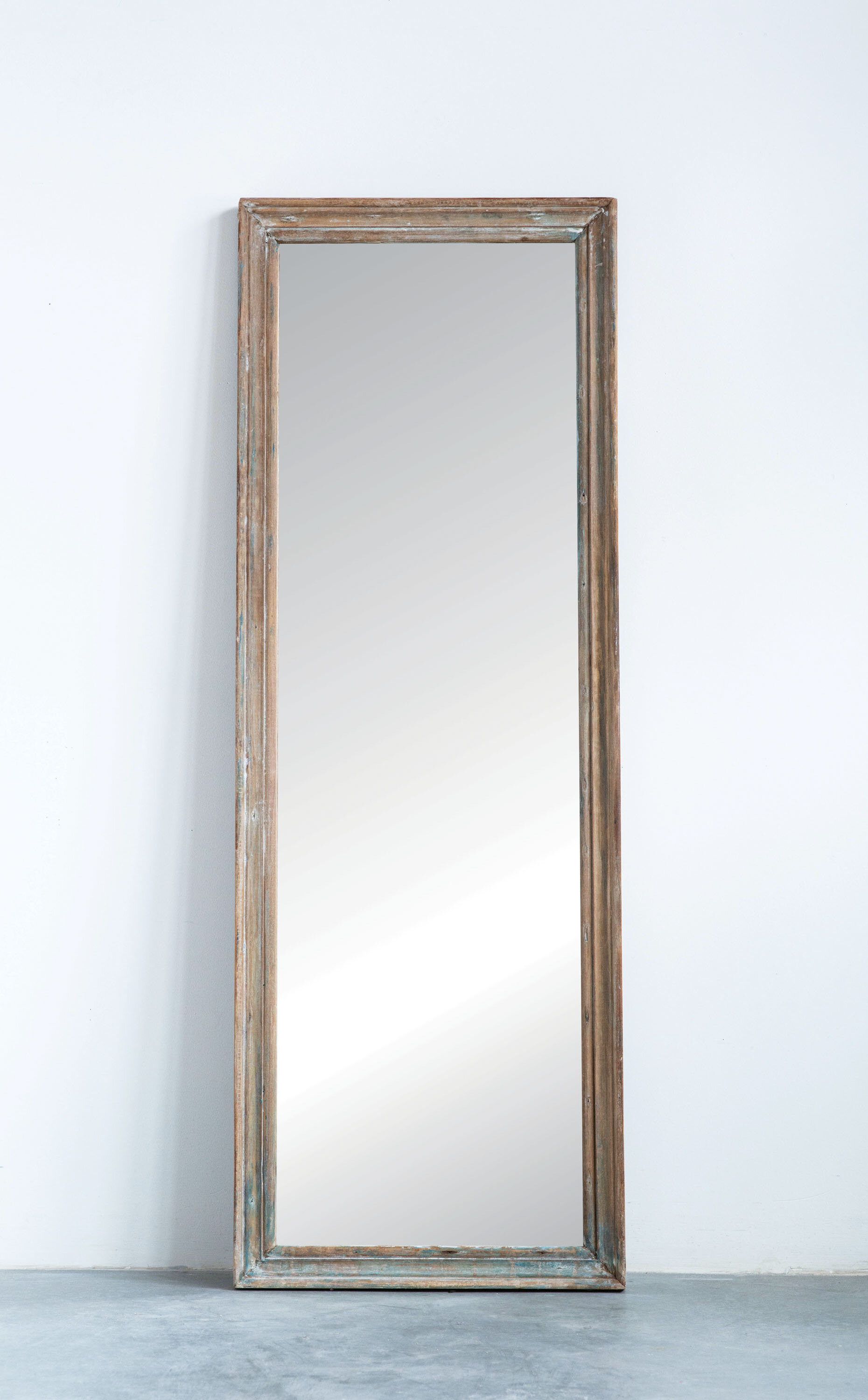 jusino rectangle reclaimed wood traditional full length mirror