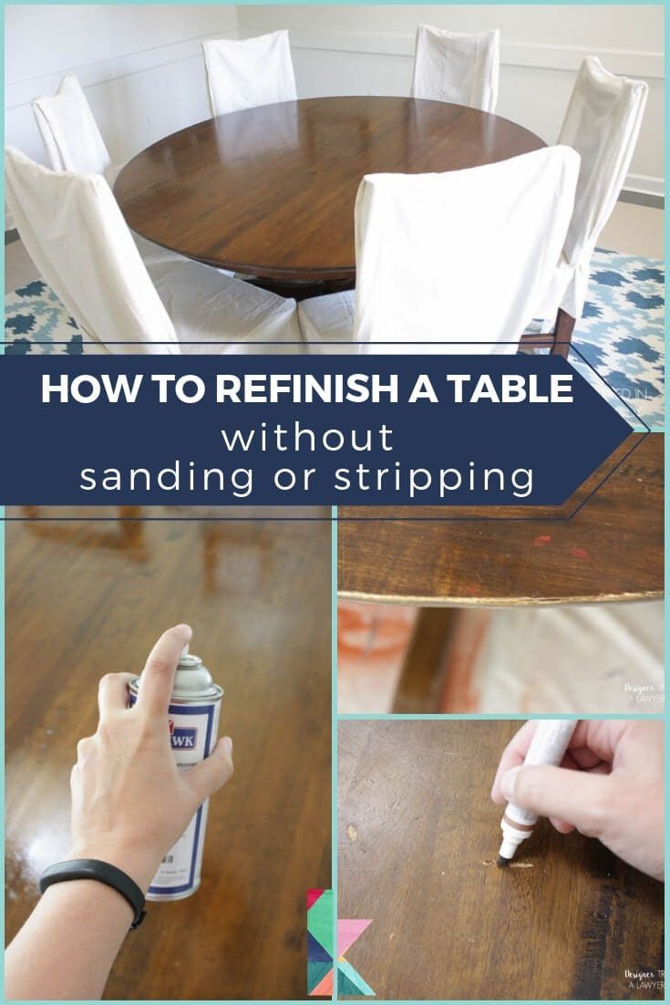 How to Refinish a Table 3