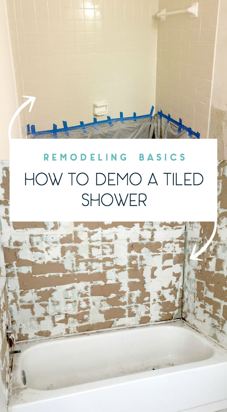 how to remove old tiled shower remodeling and demo basics