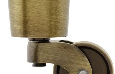 """Replacement Casters For Antique Furniture Unique Solid Brass Round Cup Caster With 1 1 4"""" Brass Wheel"""