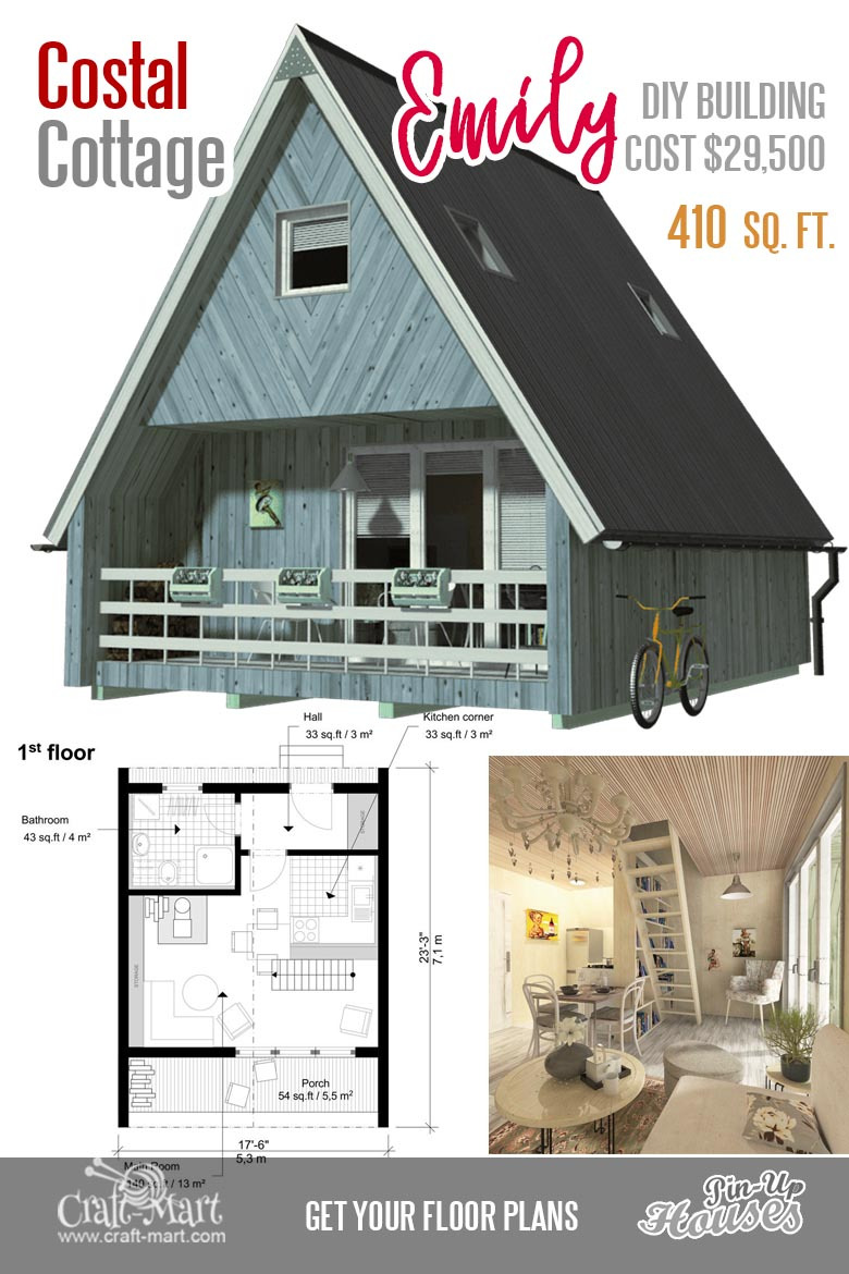 Retirement Cottage House Plans New Cute Small Cabin Plans A Frame Tiny House Plans Cottages
