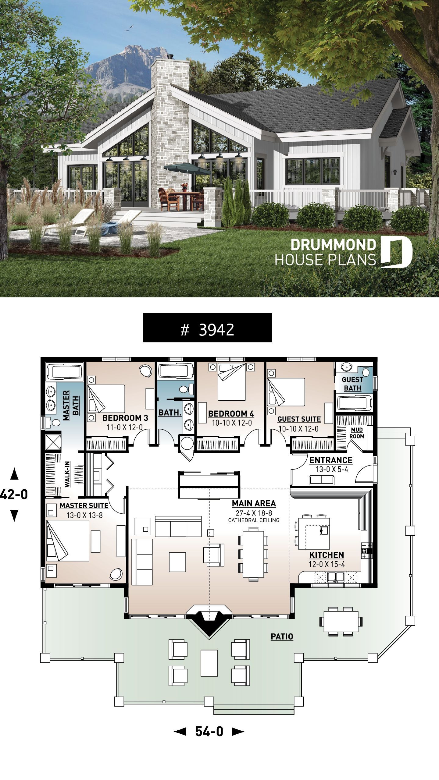 lakefront house plan cathedral ceiling 4 bedrooms 3 awesome collection for retirement home design plans job summary of retirement home design plans