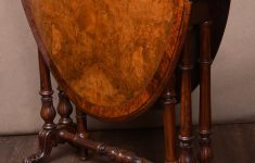 Shipping Antique Furniture Cross Country Elegant Victorian Burr Walnut Sutherland Drop Leaf Table Antiques