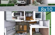 Single Storey Modern House Design Lovely Interior Design E Story House 8x10m