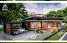 Single Story Modern House Designs Elegant Modern Villa Style Single Storey House With Two Bedrooms
