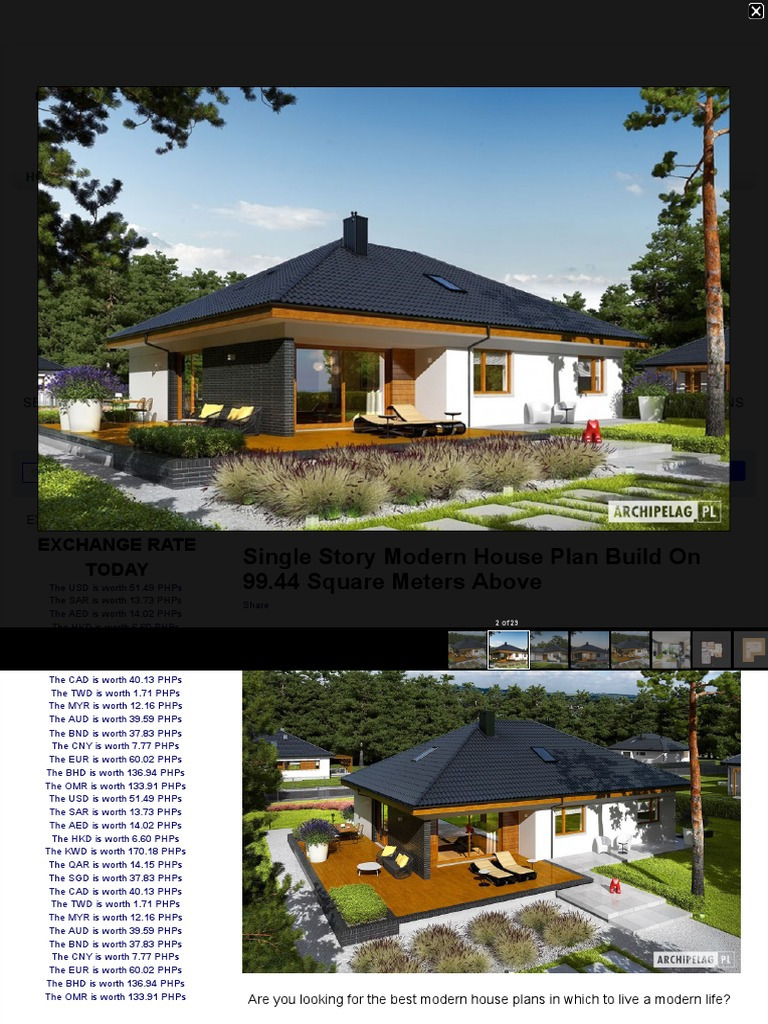 Single Story Modern House Plan Build on 99 44 Square Meters