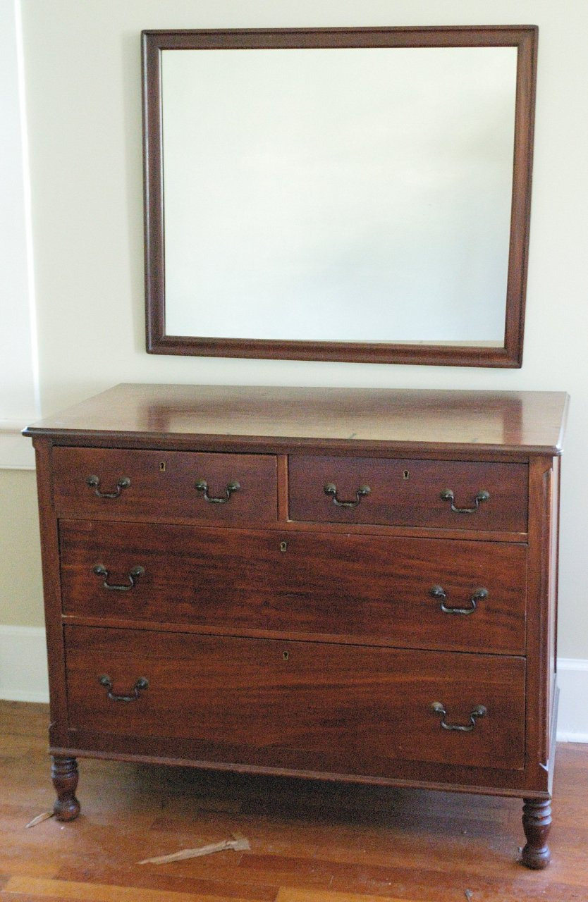 what is the value and build date of my mahogany chest of drawers 44w x 35