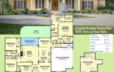 Small Acadian House Plans New Plan Hz Elegant Acadian House Plan With Three Or Four