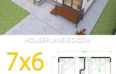 Small Floor Plans For Houses Lovely Small House Plans 7x6 With 2 Bedrooms House Plans 3d