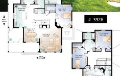 Small House Plans With Two Master Suites Lovely 4 Bedroom Small Country Cottage Plan 2 Master Suites One
