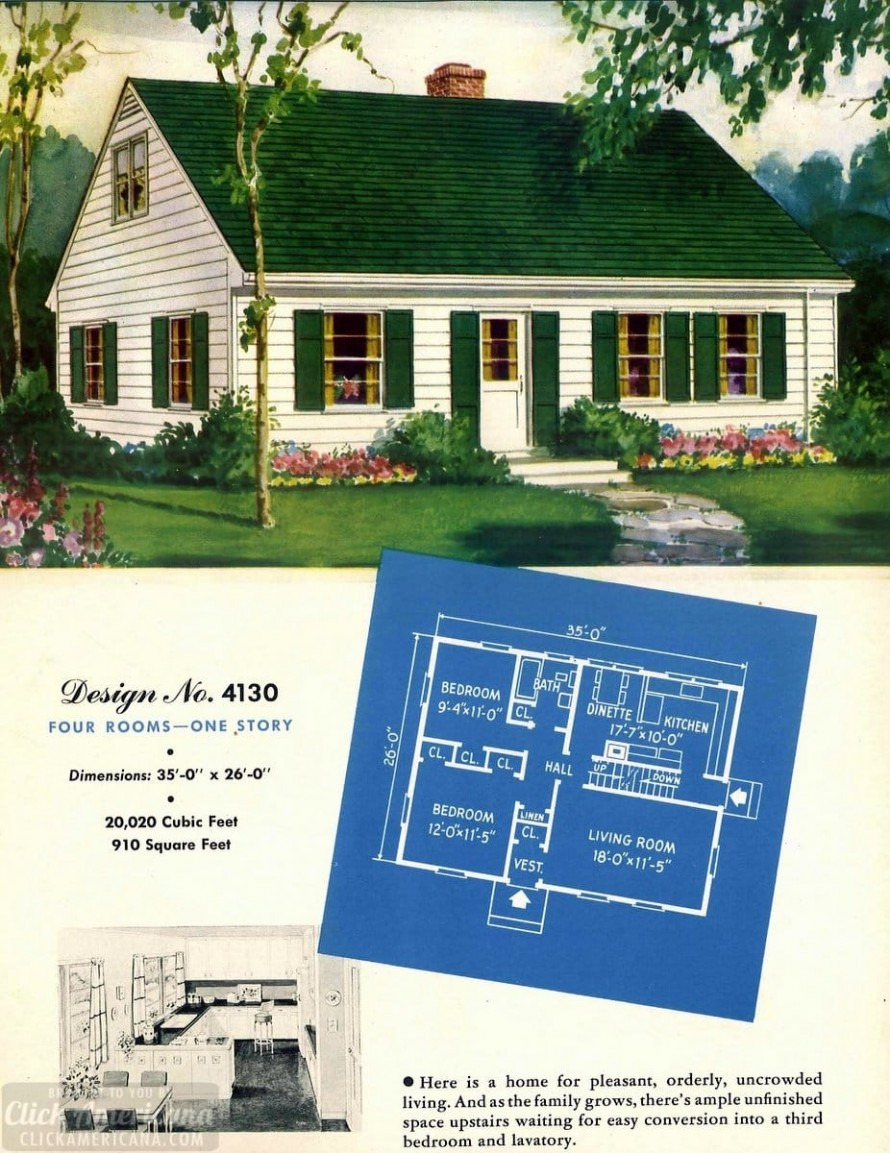 Small Low Country House Plans Unique 130 Vintage 50s House Plans Used to Build Millions Of Mid