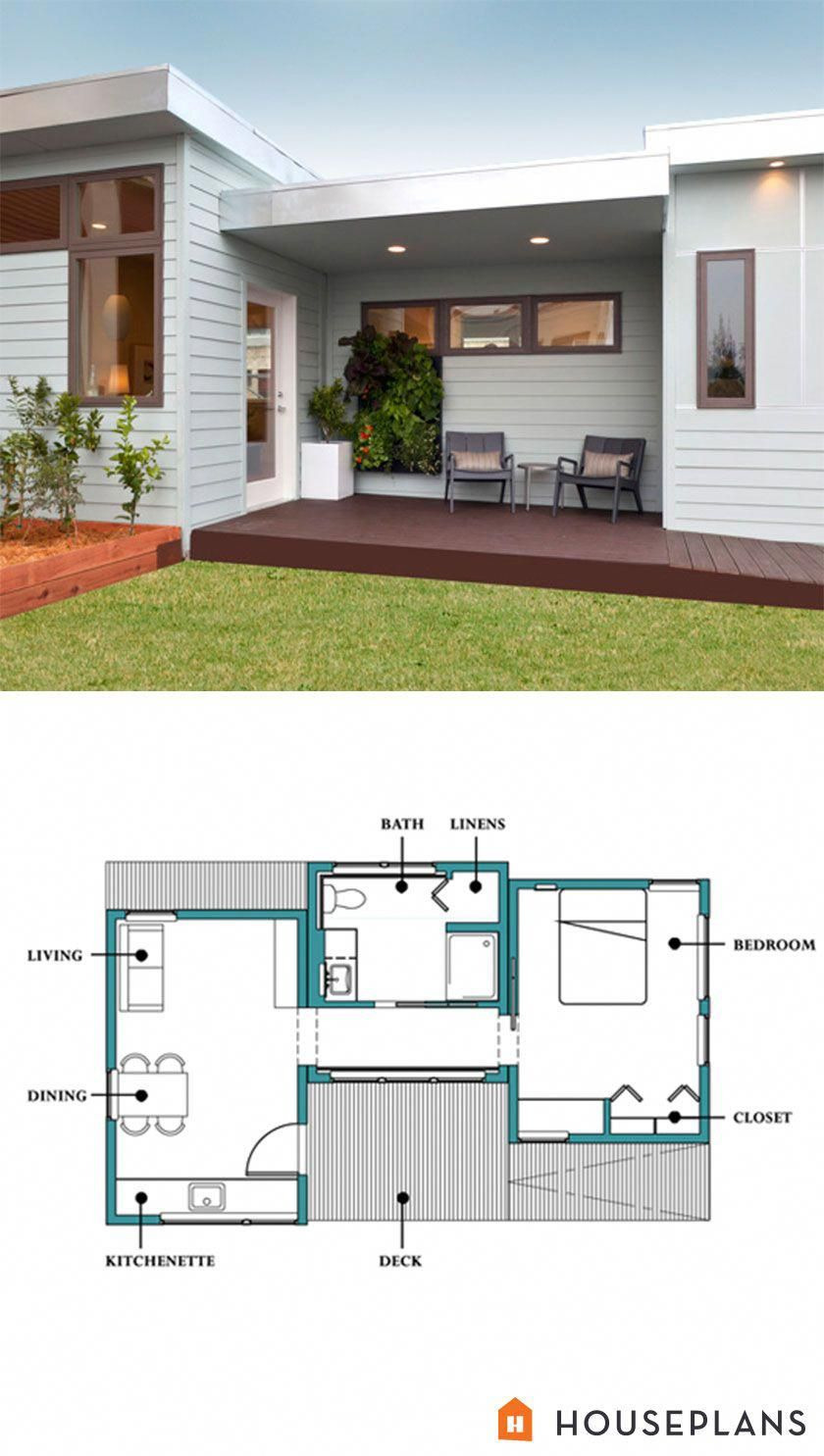 Small One Bedroom House Plans Fresh Small Modern In Law Cottage 500sft 1 Bedroom 1 Bathroom by
