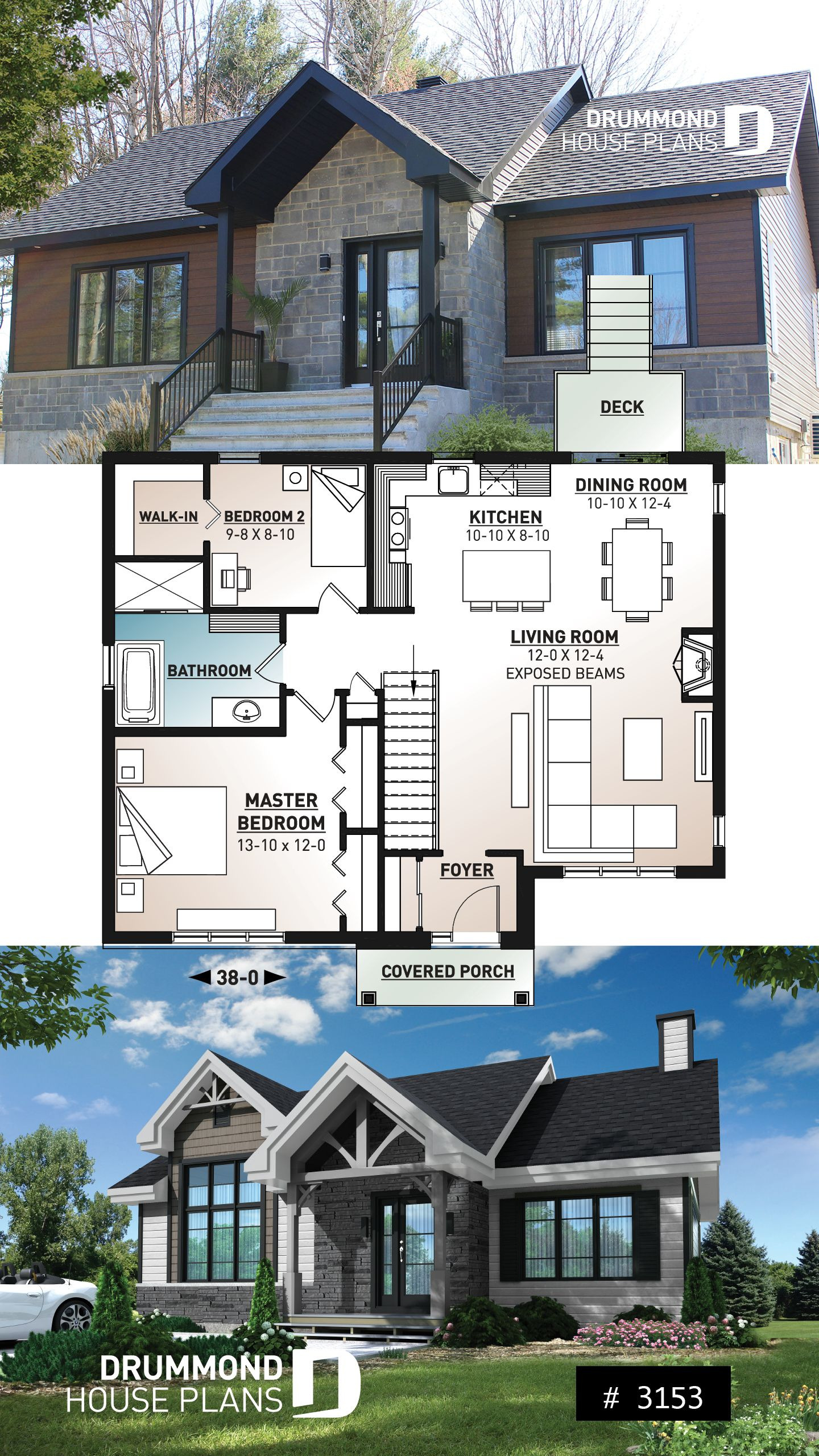 Small Rambler House Plans Luxury Modern Ranch House Plan 2 to 4 Bedrooms Low Cost