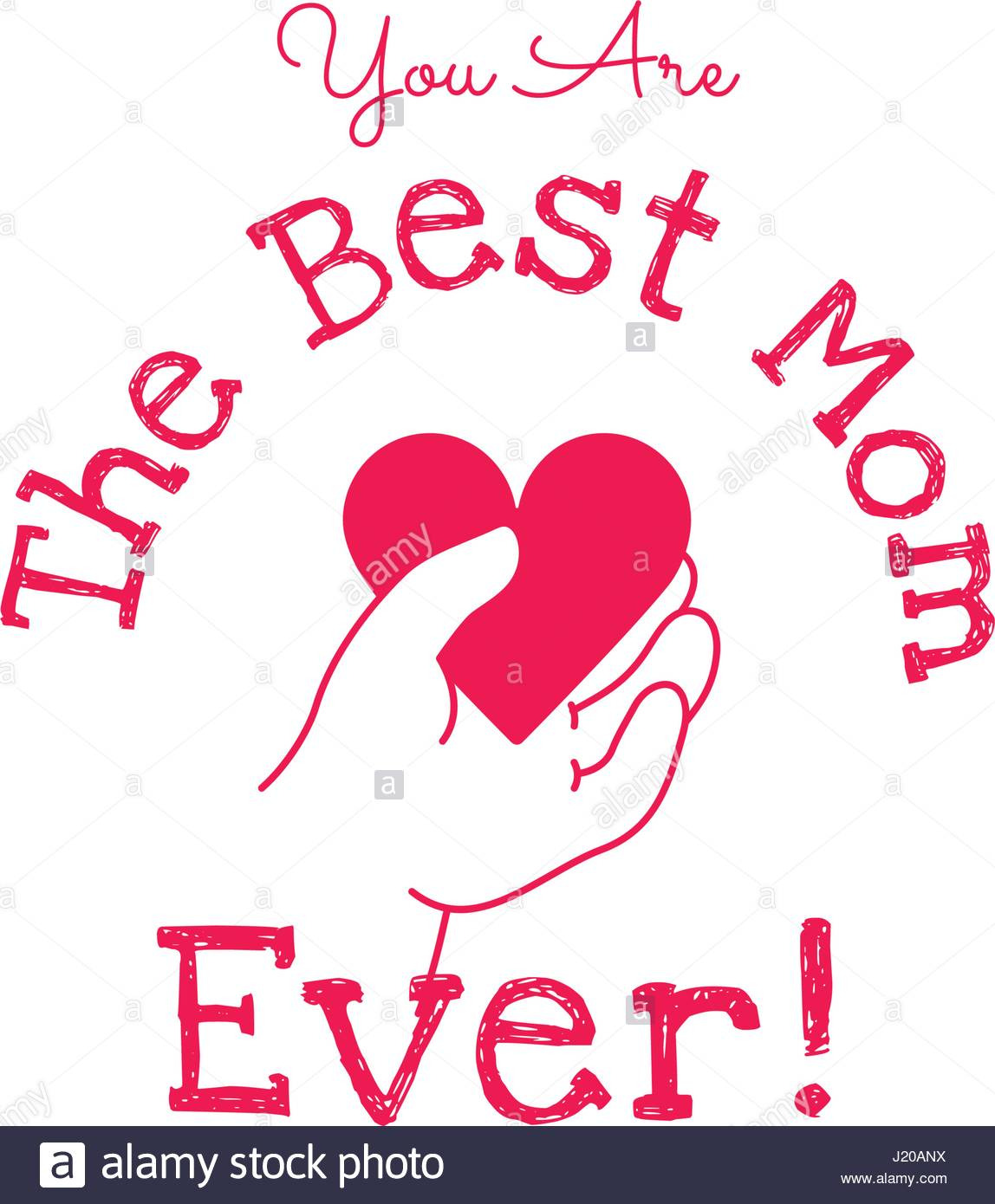 you are the best mom ever happy mothers day vector design element J20ANX