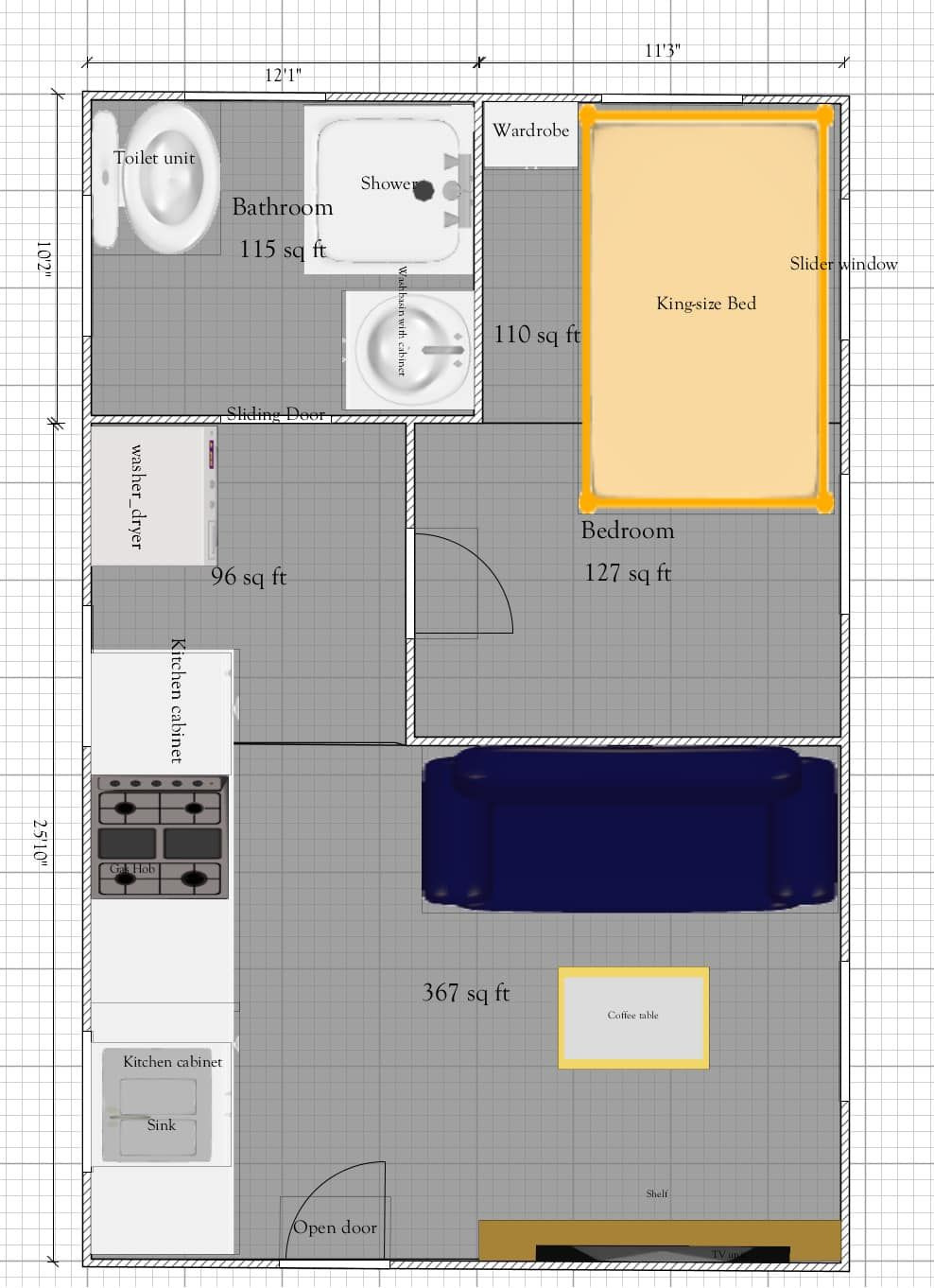 Tiny House Plans Under 100 Sq Ft Fresh 815 Sq Ft Small House Cabin Plan No Loft