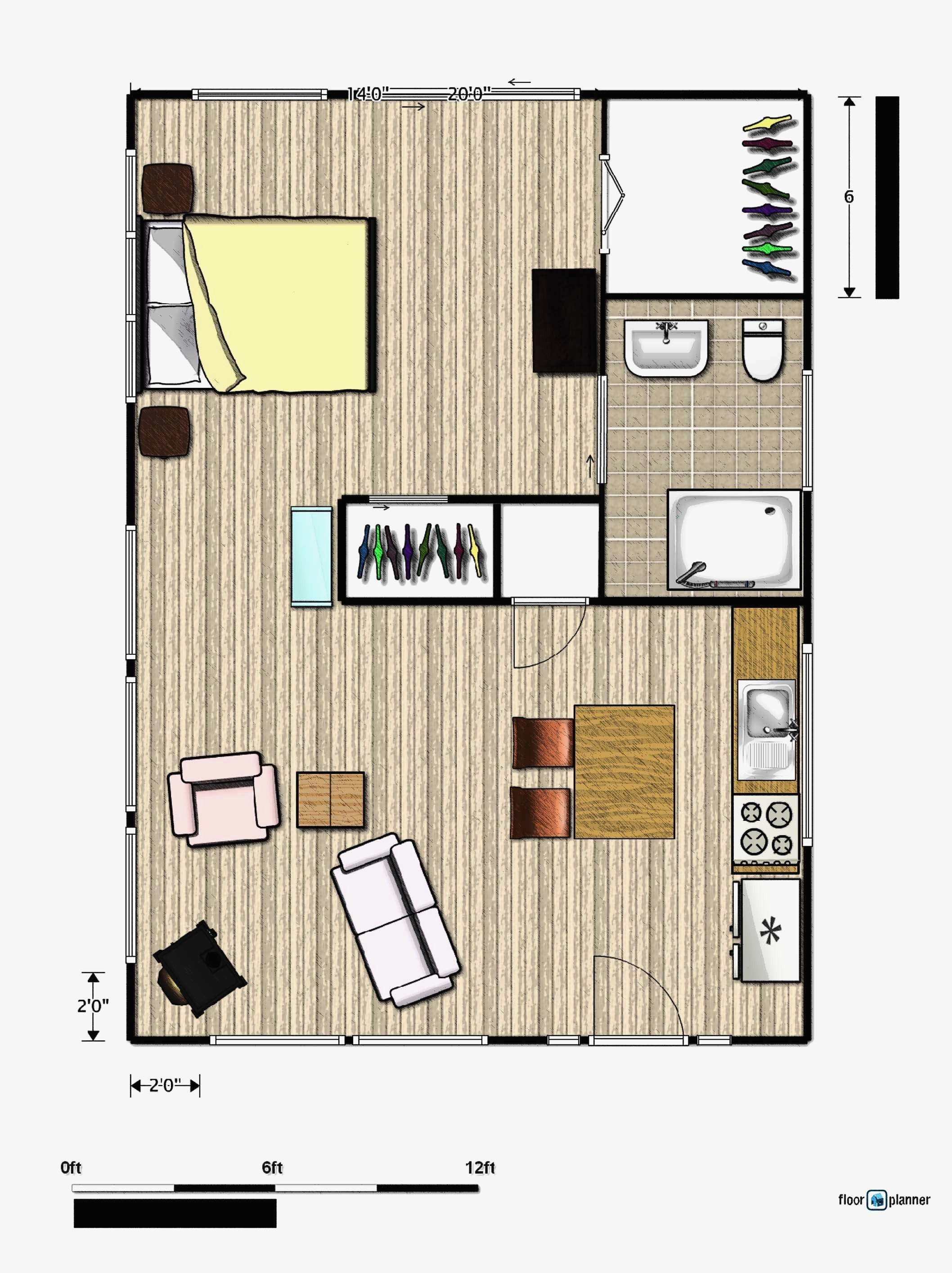 guest house plans 500 square feet