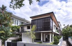 Two Story House With Balcony Lovely Two Story House With Screens In Singapore By Adx Architects