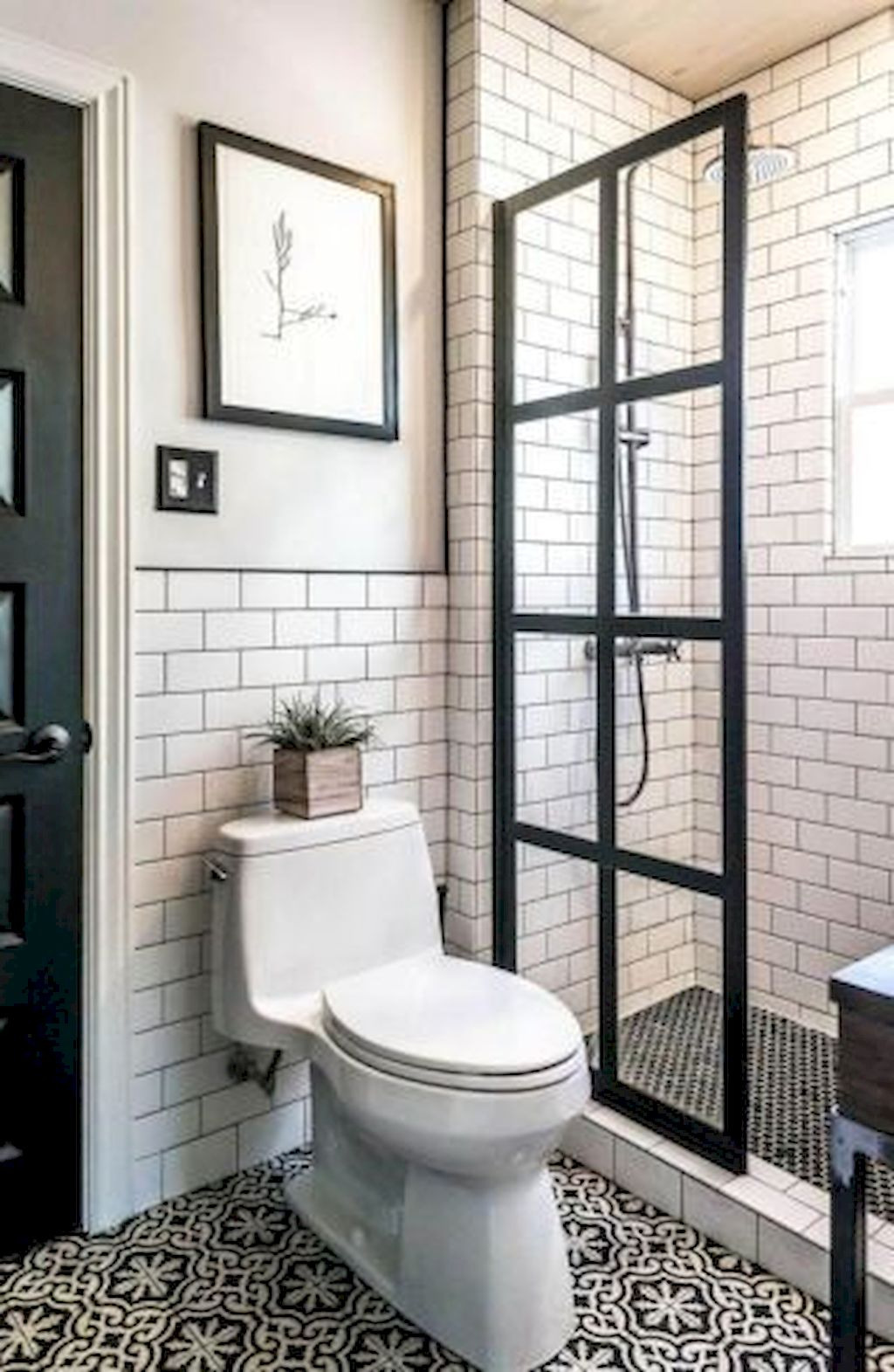 38 Stunning Farmhouse Walk In Shower Tiles Remodel Ideas